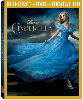 Cinderella (Live Action) - 2 DISC SET (2015, Blu-ray NEW)