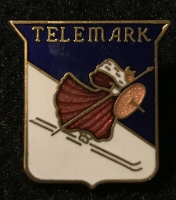 TELEMARK Lost Ski Area 1947-2013 Skiing Pin Wisconsin WI ResortnSouvenir Travel