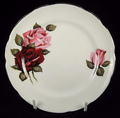 Delphine White Red & Pink Roses Bone China Side Plate