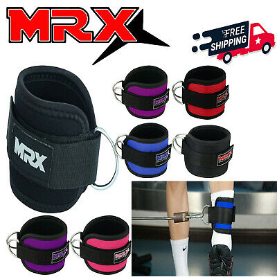 ANKLE D-RING STRAPS Thigh Pulley Lifting Padded Multi Gym Bandage MRX Strap