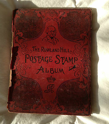 Make an offer on Antique Stamp Album - lovely pages - well used historic details