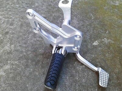 Kawasaki gpx600r o/s riders footrest, bracket  and brake lever