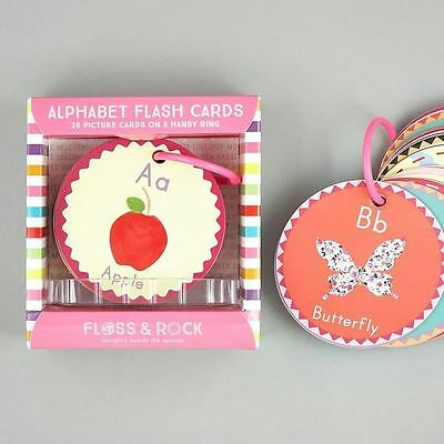 Floss & Rock Educational Lerning Pictures  Flash Cards Alphabet A is for Apple