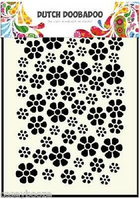 A5 Dutch Doobadoo Mask - Daisies - Stencil - Embossing - 040 - New