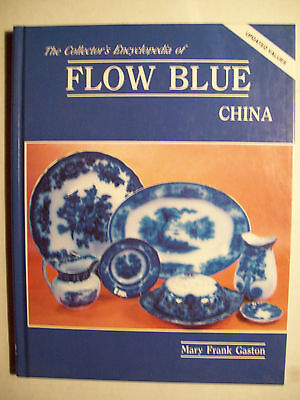 Flow Blue China Price Value Guide Book Plate Cups saucer dinnerware