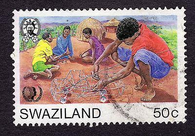 1985 Swaziland 50c Youth making model SG497 FINE USED R29961