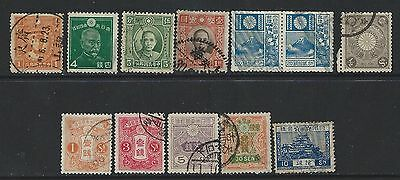 Japan - Early Years Used Stamps Lot