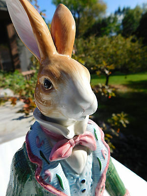 Fitz and Floyd Old World Rabbit with Cachepot, 73/303, Retired