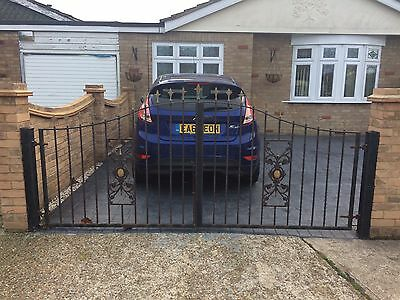 *** REDUCED *** wrought iron driveway gates