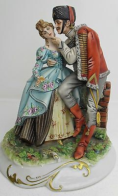 Capodimonte figure SOLDIER KISSING HIS SWEETHEART