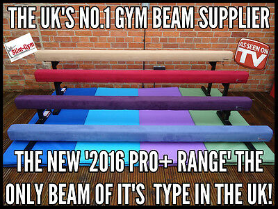 "Slim-Gym 8Ft Long 6"" High Professional Gymnastics Gym Balance Beam 'new Red'"