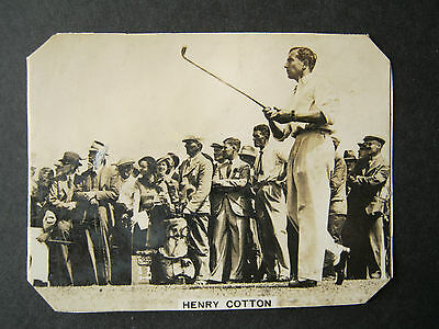 Henry Cotton Photo Card Golf