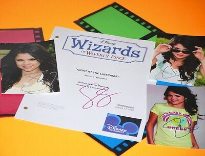 Wizards Of Waverly Place Script Signed Rpt 3 Photos