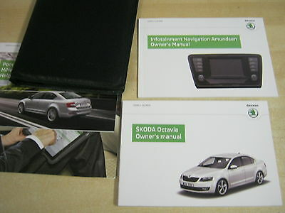 Skoda Octavia  Drivers Handbook Pack Owners Manual  2012-2015 Inc Sat Nav