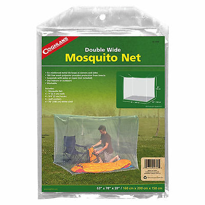 Coghlan's Double White Mosquito Net White Mesh Polyester Bug Netting for Camping