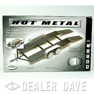 Dealer Dave CAR TRAILER 1:24 HOT METAL Metal and Plastic Parts -Car Not Included