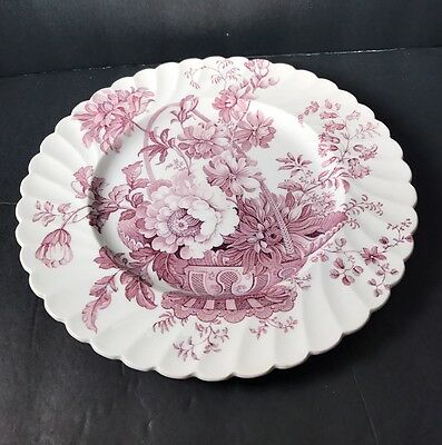 """Royal Staffordshire Lavender Charlotte Dinner Plate 10"""" England Clarice Cliff"""