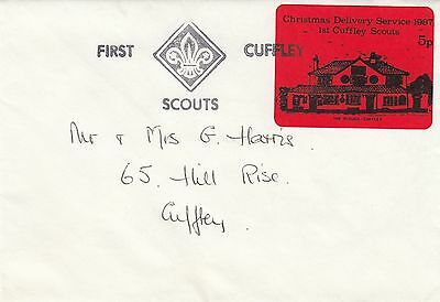 (84412) CLEARANCE GB Abdeckung Cuffley Scouts Christmas 1987 Lieferung Dienst