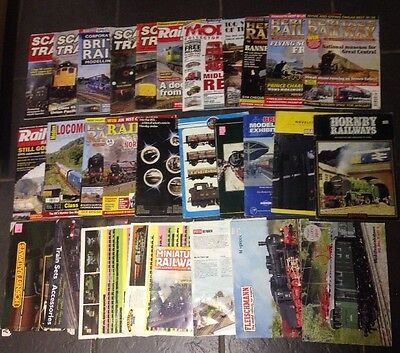 Joblot Of Model Railways Catalogues ( Some Hornby ) & Train Magazines