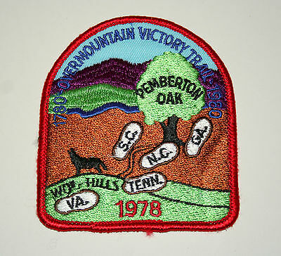 Wolfhills SC NC TN VA GA Pemberton Oak Victory Trail Hiking Patch New NOS 1978