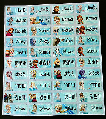 120 FROZEN Custom Name Stickers-DAYCARE,SCHOOL SUPPLIES (Buy  5 get 1 FREE)