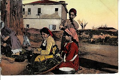 BS69.Vintage Postcard.Costumes from Salonica. Greece