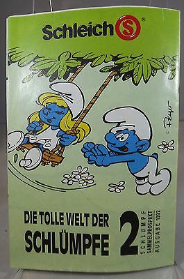 SCHLEICH PEYO SMURF COLLECTOR'S BOOKLET CATALOGUE 1992 2nd EDITION