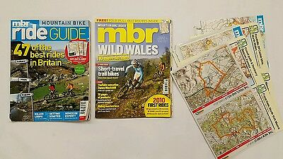 Mbr mountain bike rider magazine 2 issues + routes