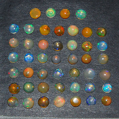 11.74 Cts/46 Pcs [Certified] Natural Facetted Ethiopian Welo Opal Vibrant Colors