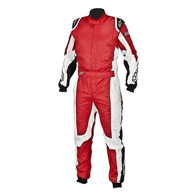 Alpinestars GP Tech Racing Suit SFI 3.2A Rated, Red/White, Euro Size 50