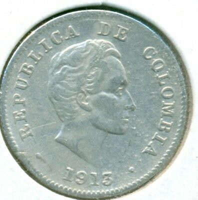 1913 Columbia 10 Centavos, Very Fine, Great Price!