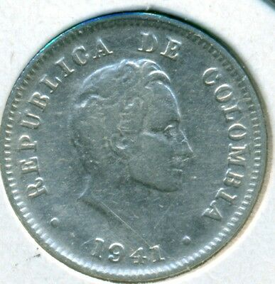 1941 Columbia 10 Centavos, Very Fine, Great Price!
