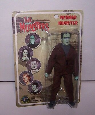 """THE MUNSTERS Herman Munster 8"""" Action Figure MEGO Style Classic TV Toys 2004"""