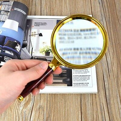 Handheld 10X Jewelry Magnifier Magnifying Glass Reading Loupes 90mm