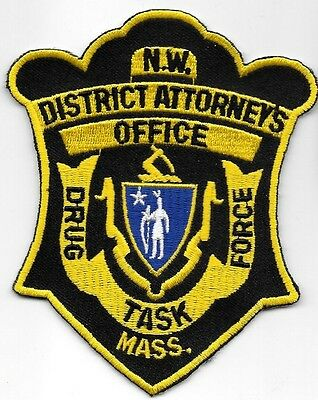 Mass Northwest District Atty MA Drug Task Force Sheriff Police Patch NARCO LOCAL