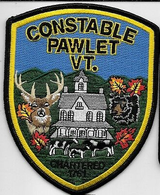 PAWLET VERMONT VT  Police Dept Deer Black Bear Cows PPD PD