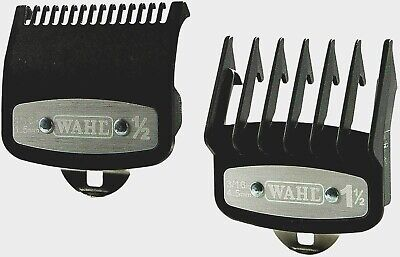 Wahl Premium Cutting Guides  Guards With Non Slip Metal Clip 2 Pcs 1/2 & #1 1/2