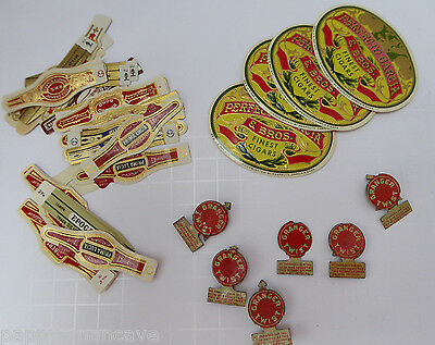 VINTAGE GRANGER TWIST TOBACCO TAGS (6) AND MISC. CIGAR BANDS~free shipping