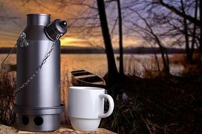 Maverick 0.5L Kettle with Base Hard Anodised Aluminium Ghillie Camping Kettle