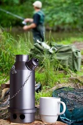 Adventurer 1.5L Kettle with Base Hard Anodised Aluminium Ghillie Camping Kettle