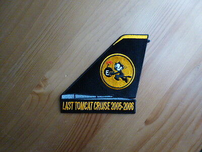 VF-31 Battle E TOMCATTERS PATCH Tailfin Last Tomcat Cruise Baby 2006 F-14 Navy