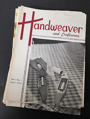 Vtg Handweaver & Craftsman Magazine Lot of 32 1950 (1st issue!) to 1963 wow!