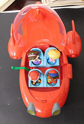Disney Little Einsteins Red Pat Pat Rocket w/ 4 Characters! Lights Sounds Works