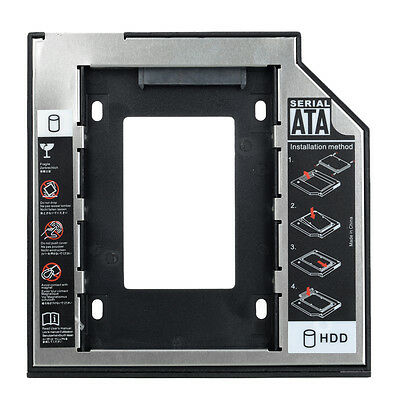 9.5mm Universal SATA 2nd HDD Caddy SSD Hard Drive Panel for DVD-ROM Optical Bay