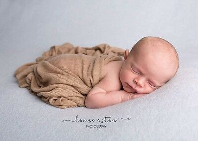 Bronze Newborn Stretch Knit Soft Wrap Baby Photo Photography Prop 60 x120cm