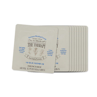 [Sample] [The Face Shop] The Therapy Anti-aging No Shine Hydrating Cream x 10PCS