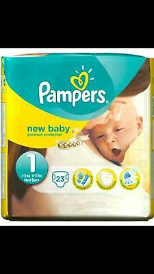 Lot couche Pampers New baby taille 1 : 10 paquets soit 230 couches