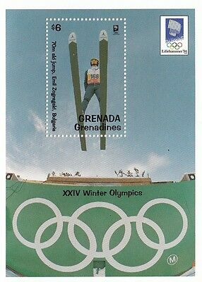 (87684) Grenade Grenadines MNH Jeux Olympiques D'hiver