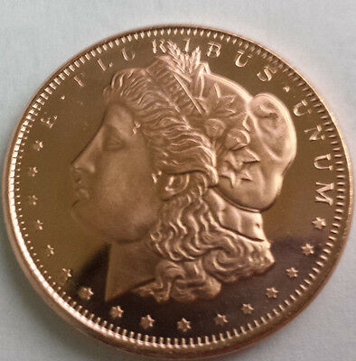 1/2 OZ 1878 Morgan Silver Dollar 99.9% Pure Copper Bullion Art Round Free Ship