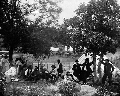 New 8x10 Civil War Photo: Camp of Union Officers and Men after Gettysburg Battle